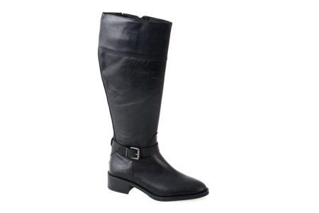 Alpe Γυναικεία Δερμάτινη Μπότα Μαύρη 3003