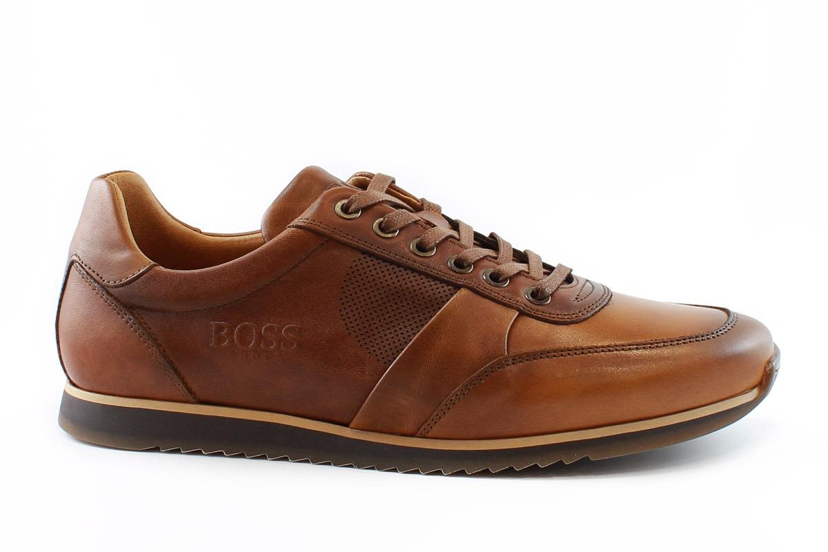 e9839f85ce Boss Shoes Ανδρικό Δερμάτινο Sneaker Ταμπά Η1155Τ - Nero Kaidas