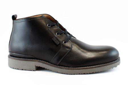 Boss Shoes Ανδρικό Δερμάτινο Μποτάκι Μαύρο H19542
