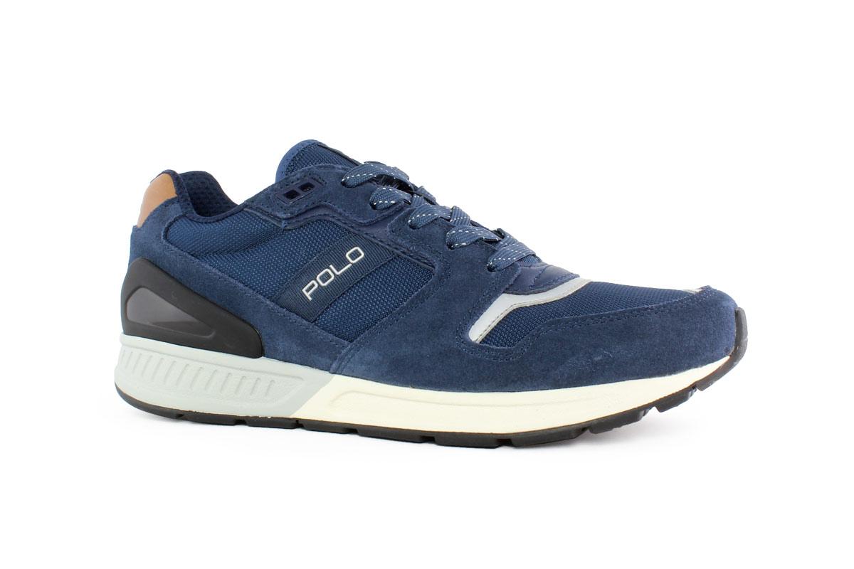 5bb06ae8ed Ralph Lauren Δερμάτινα Ανδρικά Sneaker Μπλε TRAIN-100-SK-ATH - Nero ...