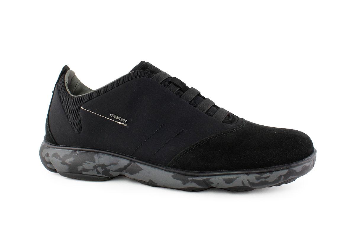 1901b7d2a4 Geox Ανδρικό Δερμάτινο Sneaker Μαύρο U NEBULA F - Nero Kaidas