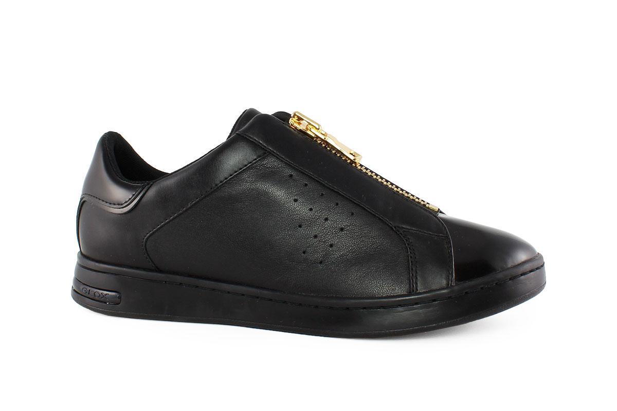 fa684a858a Geox Γυναικείο Δερμάτινο Sneaker Μαύρο D JAYSEN A - Nero Kaidas