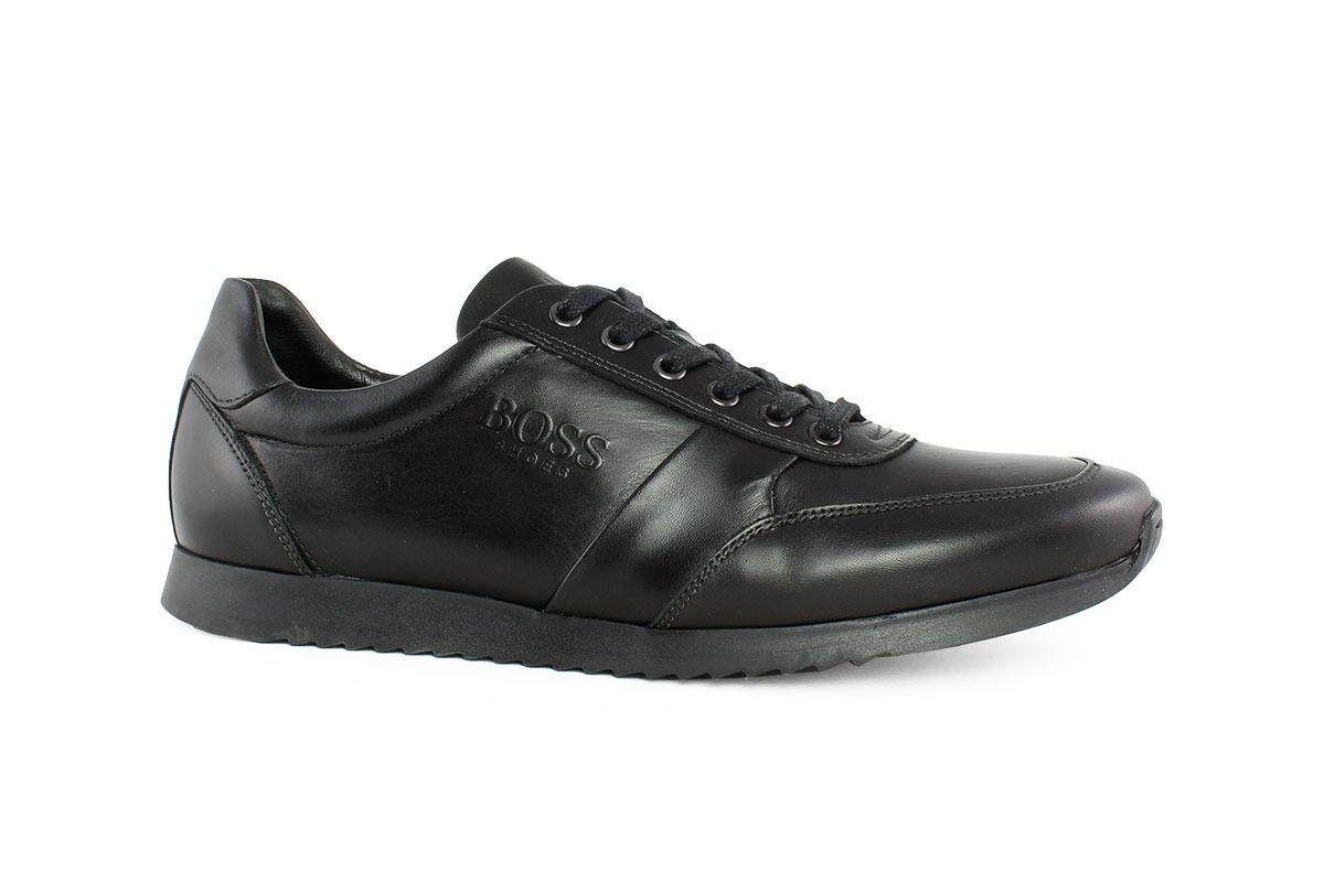 4b956496014a Boss Shoes Ανδρικό Δερμάτινο Sneaker Μαύρο K1150 - Nero Kaidas