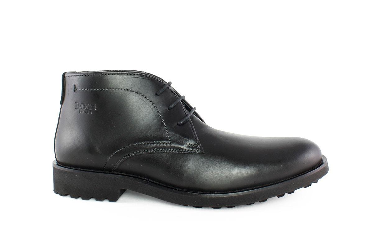 3e9fcc019d0b Boss Shoes Ανδρικό Δερμάτινο Μποτάκι Μαύρο K25020M - Nero Kaidas
