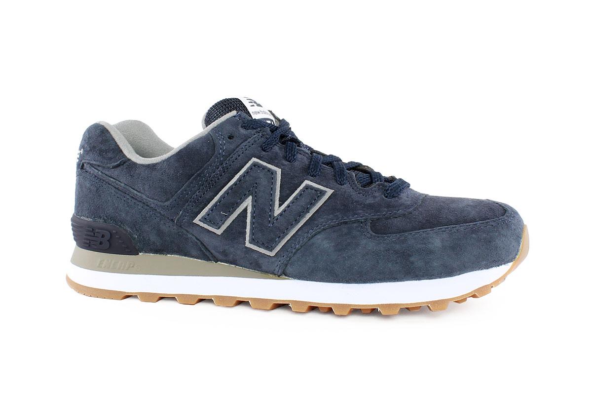 a48df1fb31 New Balance Ανδρικό Δερμάτινο Sneaker Μπλε 574FSN - Nero Kaidas