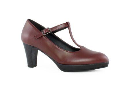 Aneto Comfort Shoes Γυναικεία Δερμάτινη Γόβα Μπορντό K77/5098-B