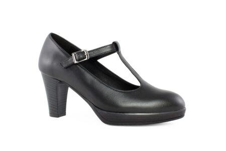 Aneto Comfort Shoes Γυναικεία Δερμάτινη Γόβα Μαύρη K77/5098