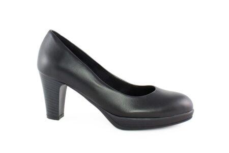 Aneto Comfort Shoes Γυναικεία Δερμάτινη Γόβα Μαύρη 5098MD
