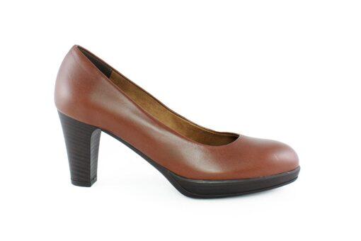 Aneto Comfort Shoes Γυναικεία Δερμάτινη Γόβα Ταμπά 5098TD