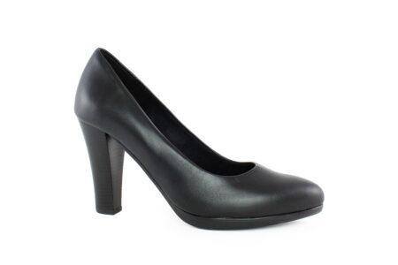 Aneto Comfort Shoes Γυναικεία Δερμάτινη Γόβα Μαύρη 1984M