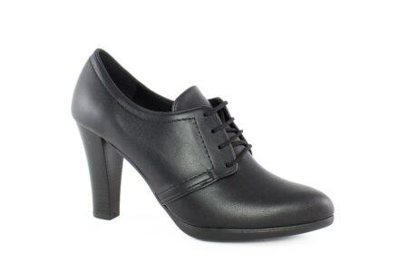 Aneto Comfort Shoes Γυναικείο Δερμάτινο Μποτάκι Μαύρο K-80