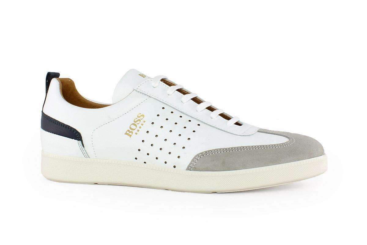 b5976de12d33 Boss Shoes Ανδρικό Δερμάτινο Sneaker Λευκό LAREZZOL - Nero Kaidas