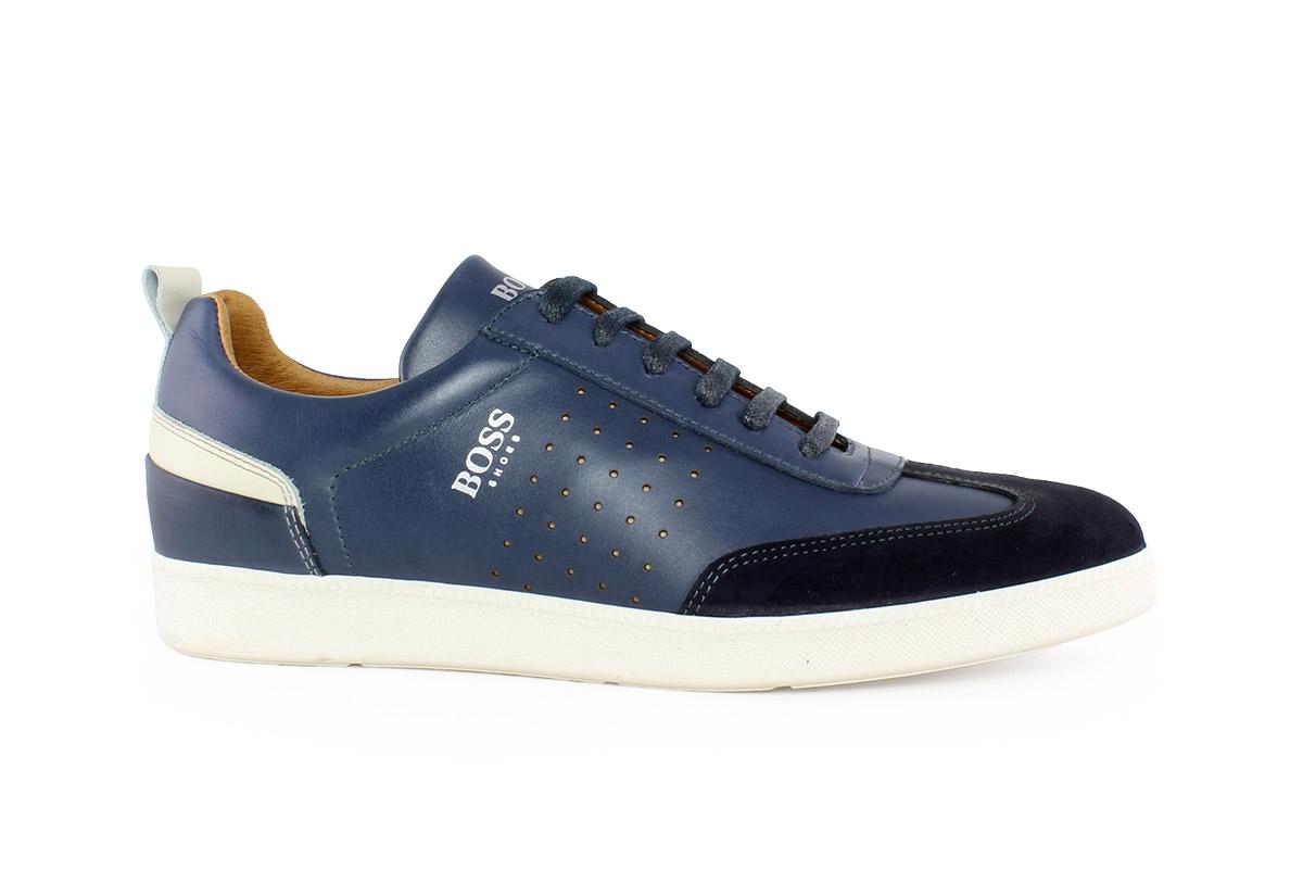 Boss Shoes Ανδρικό Δερμάτινο Sneaker Μπλε LAREZZOM