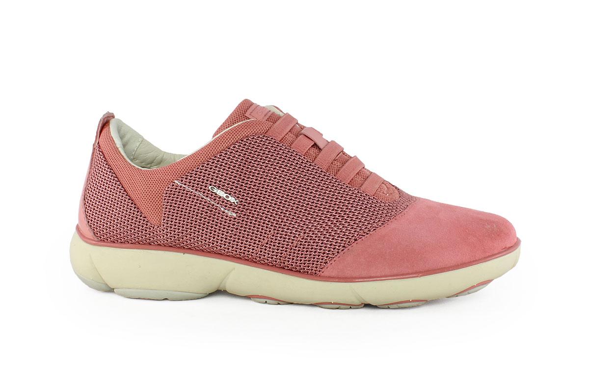 c5748d5653 Geox Γυναικείο Δερμάτινο Sneaker Κόκκινο D NEBULA C5 - Nero Kaidas