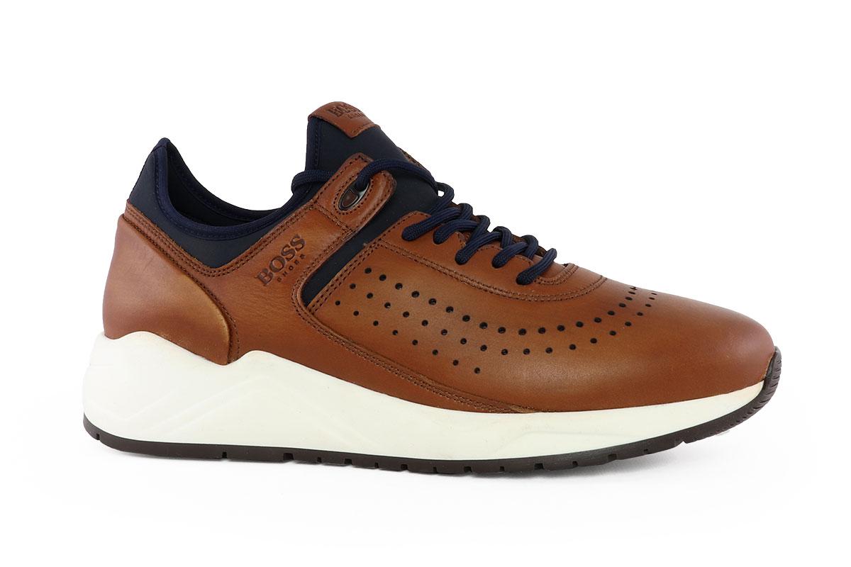 5b7e997ef3 Boss Shoes Ανδρικό Δερμάτινο Sneaker Ταμπά LP141K - Nero Kaidas