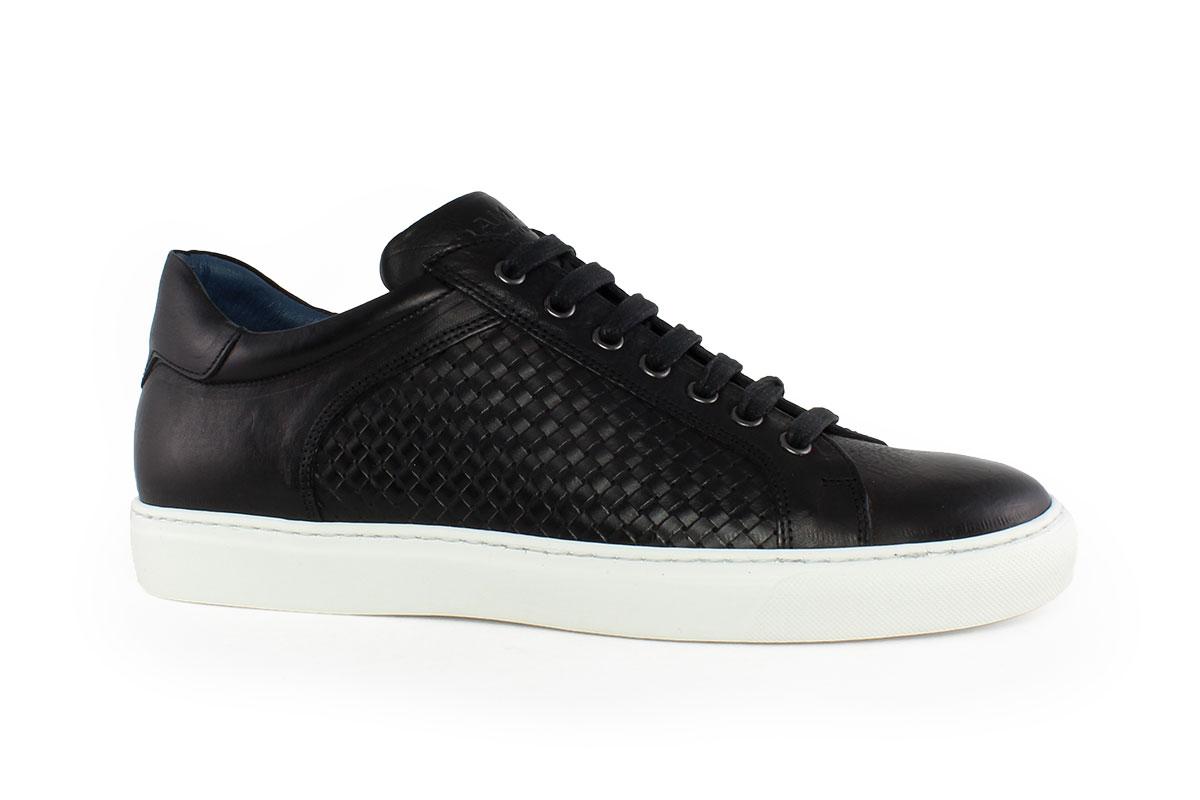 2b31048502 Damiani Ανδρικό Δερμάτινο Sneaker Μαύρο 320 - Nero Kaidas