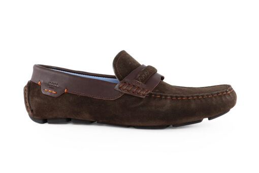 Boss Shoes Ανδρικό Δερμάτινο Καστόρι Loafer Καφέ L6095K