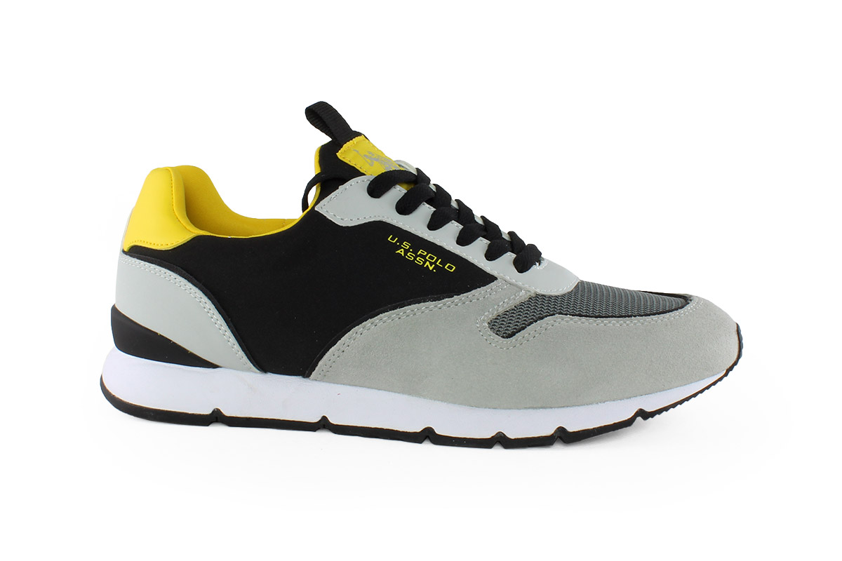 ae7412dcbf U.s Polo Ανδρικό Δερμάτινο Sneaker Γκρι BOLT - Nero Kaidas