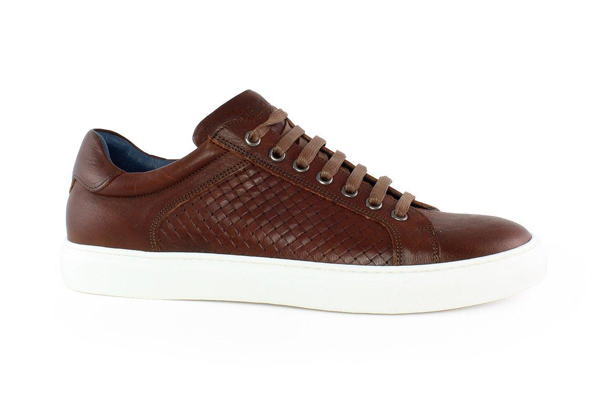 aa4eefe5e6 Damiani Ανδρικό Δερμάτινο Sneaker Καφέ 320K - Nero Kaidas