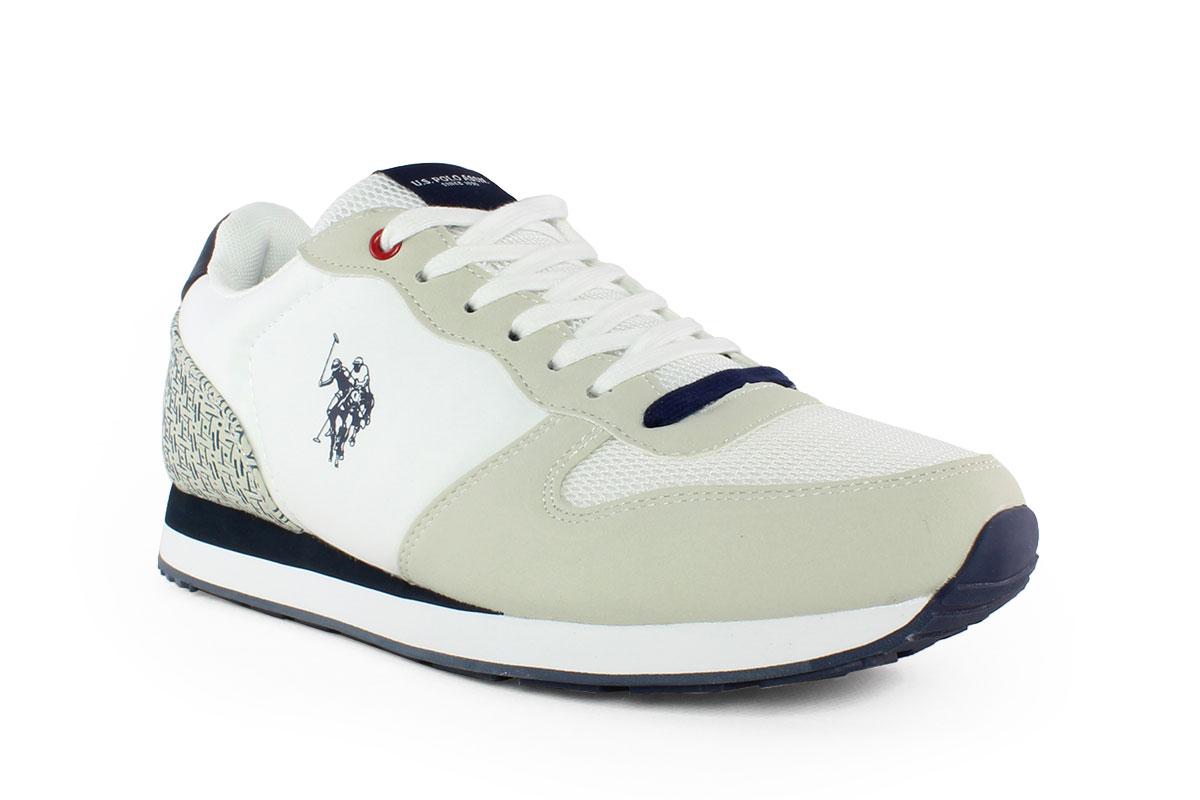 312749ca99 U.s Polo Ανδρικό Δερμάτινο Sneaker Λευκό SOREN - Nero Kaidas