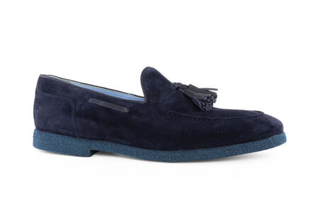Boss Shoes Ανδρικό Δερμάτινο Loafer Μπλε L6148M