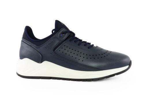 Boss Shoes Ανδρικό Δερμάτινο Sneaker Μπλε Cerasa LP141