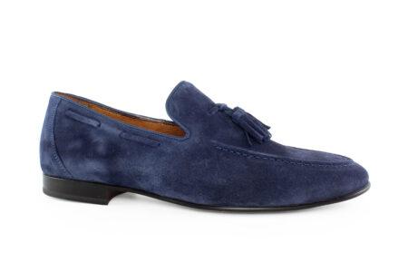 Damiani Ανδρικό Καστόρι Δέρμα Loafer Μπλε 590Q