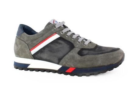 Damiani Ανδρικό Δερμάτινο Sneaker Γκρι 483G
