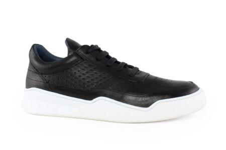 Damiani Ανδρικό Δερμάτινο Sneaker Μαύρο 950M