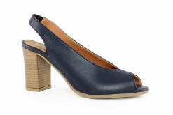 Aneto Comfort Shoes Γυναικείο Δερμάτινο Πέδιλο Μπλέ K68M
