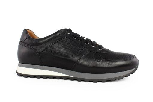 Damiani Ανδρικό Δερμάτινο Sneaker Μαύρο 1480Μ