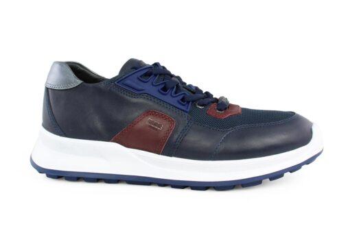 Boss Shoes Ανδρικό Δερμάτινο Sneaker Μπλε M6298B