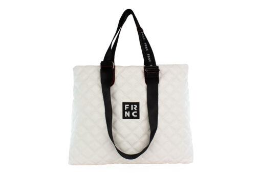 Frnc Γυναικεία Τσάντα Χειρός Λευκό 1295-LE