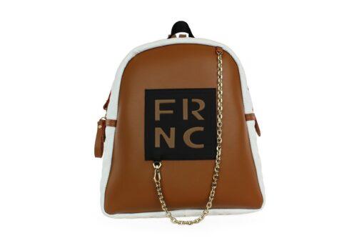 Frnc Γυναικεία Τσάντα Backpack Ταμπά Λευκό 901-TW