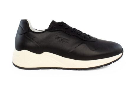 Boss Shoes Ανδρικό Δερμάτινο Sneaker Μαύρο NQ191