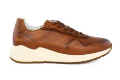 Boss Shoes Ανδρικό Δερμάτινο Sneaker Ταμπά NQ191-T