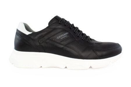 Damiani Ανδρικό Δερμάτινο Sneaker Μαύρο 2400-MAY
