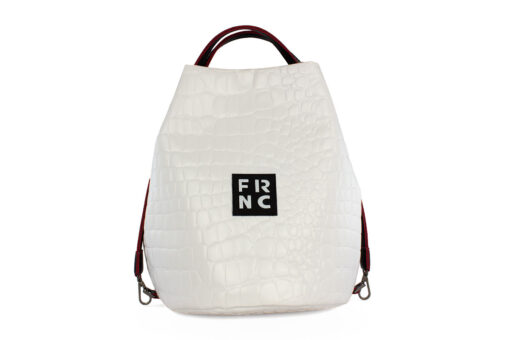 Frnc Γυναικεία Τσάντα Χειρός Κροκό 1420-CRO/WH