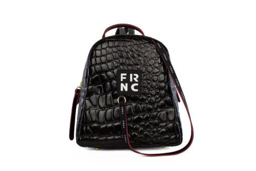 Frnc Γυναικεία Τσάντα Backpack Μαύρη 1410-CRO/BL