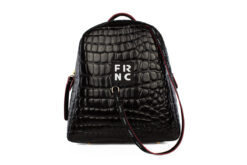 Frnc Γυναικεία Τσάντα Backpack Μαύρη 1411-CRO/BL
