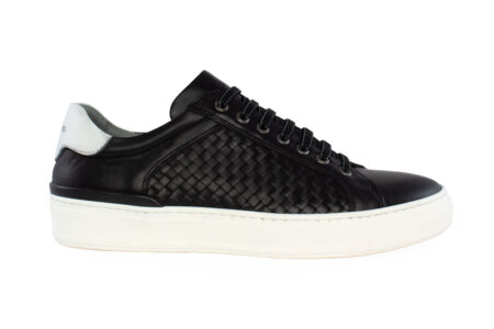 Damiani Ανδρικό Δερμάτινο Sneaker Μαύρο 2650