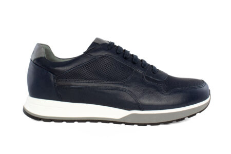Damiani Ανδρικό Δερμάτινο Sneaker Μπλε 2500BL